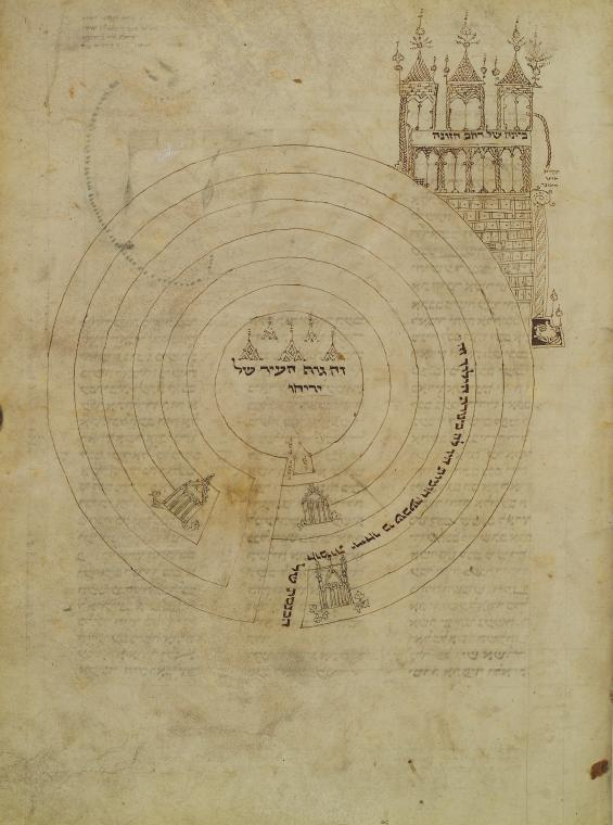 Jericho: Town Plan and Rahab's House, Xanten Bible, 1294